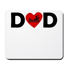 Swimming Heart Dad Mousepad