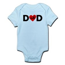 Swimming Heart Dad Body Suit