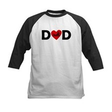 Swimming Heart Dad Baseball Jersey