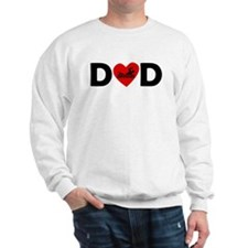 Swimming Heart Dad Sweatshirt