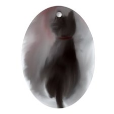 Lazy Cat Oval Ornament
