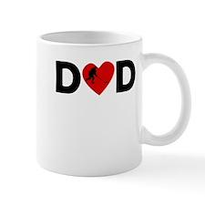 Hockey Heart Dad Mugs