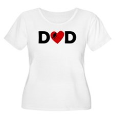 Hockey Heart Dad Plus Size T-Shirt