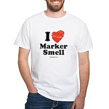 I Love Marker smell / Baby Humor White T-shirt