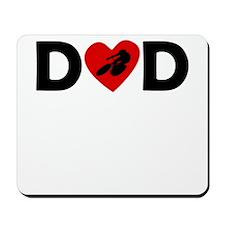 Cycling Heart Dad Mousepad