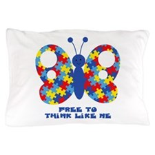 Autism Butterfly Pillow Case