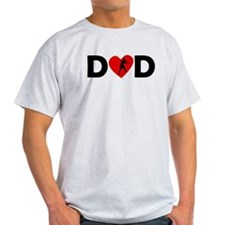 Boxing Heart Dad T-Shirt