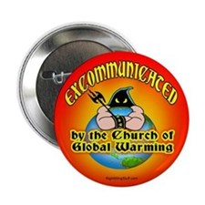 """Church of Global Warming 2.25"""" Button (10 pack)"""