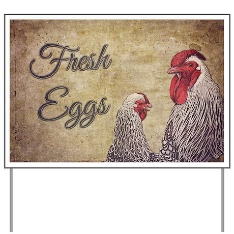 Fresh Eggs Yard Sign