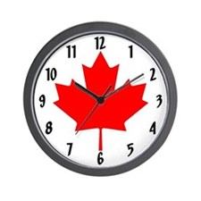 Canadian Maple Leaf Wall Clock