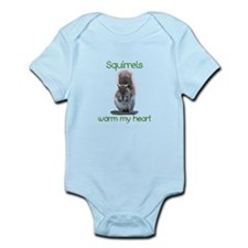 Squirrels Warm Hearts Infant Bodysuit
