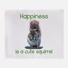 Squirrel Happiness Throw Blanket