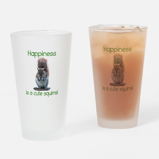 Squirrel Happiness Drinking Glass