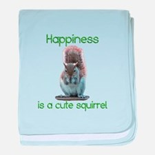 Squirrel Happiness baby blanket