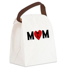 Weightlifting Heart Mom Canvas Lunch Bag