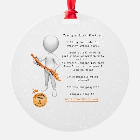 Craig's List Posting Ornament
