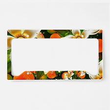 Fractal Orange Blossoms License Plate Holder