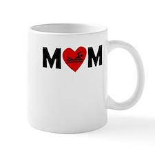Swimming Heart Mom Mugs