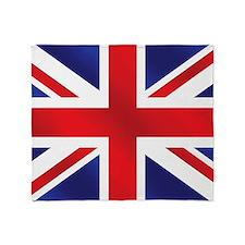 Union Jack Uk Flag Throw Blanket
