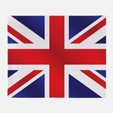 Union Jack Uk Flag Throw Blanket