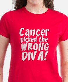 Cancer Picked Wrong Diva Tee