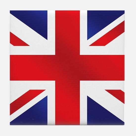 Union Jack Uk Flag Tile Coaster