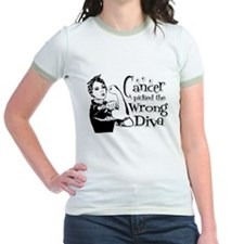 Cancer Picked The Wrong Diva 3 T-Shirt