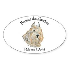 Bouvier des Flandres Wheaten Decal