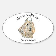 Bouvier des Flandres Wheaten Sticker (Oval)