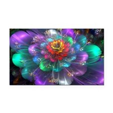 Color in Bloom Rectangle Car Magnet