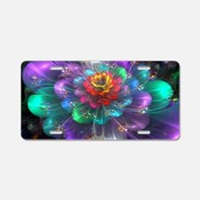 Color in Bloom Aluminum License Plate