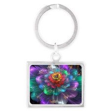 Color in Bloom Landscape Keychain