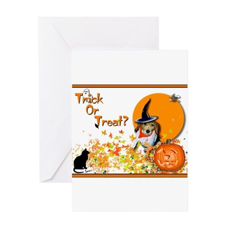 Halloween Beagle Greeting Cards