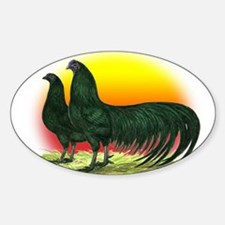Sumatra Game Fowl Oval Decal