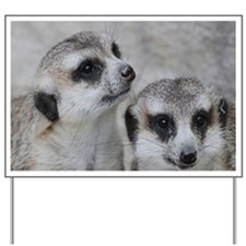 adorable meerkats 02 Yard Sign