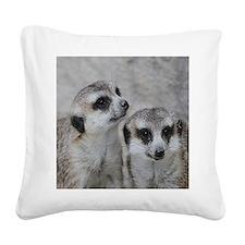 adorable meerkats 02 Square Canvas Pillow