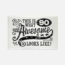 90th Birthday Rectangle Magnet