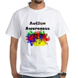 Autism Mens White T-shirts