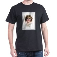 Portrait Of Flapper In Pink T-Shirt
