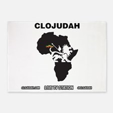CLOJudah Lion of Judah Africa 5'x7'Area Rug