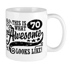 70th Birthday Small Mug