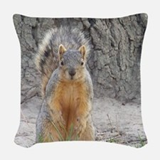 Squirrel Woven Throw Pillow