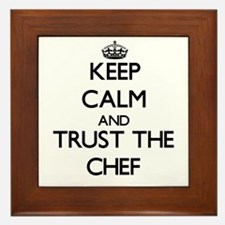 Keep Calm and Trust the Chef Framed Tile
