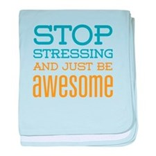 Just Be Awesome baby blanket