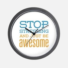 Just Be Awesome Wall Clock