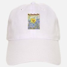 Blue & Gold Heart Cancer Baseball Baseball Cap