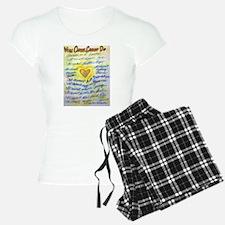 Blue & Gold Heart Cancer Pajamas