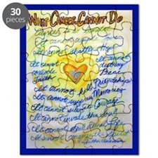 Blue & Gold Heart Cancer Puzzle