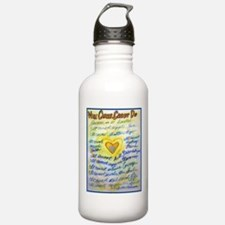 Blue & Gold Heart Canc Water Bottle