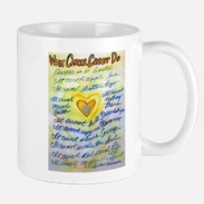 Blue & Gold Heart Cancer Mug